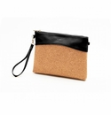 Pixie Mood Nicole Large Pouch Wristlet / Crossbody - Black & Cork