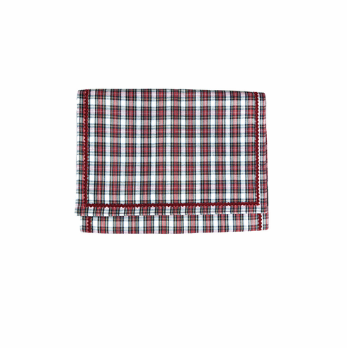 Plaid Table Runner Red