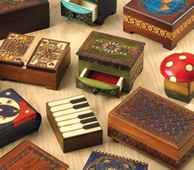 Polish Decorative Wooden Boxes & Games