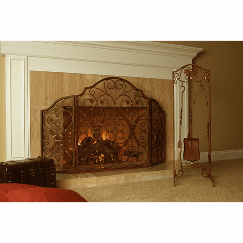 Provincial 3 Panel Fireplace Screen by SPI Home