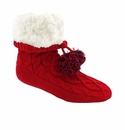 Pudus Classics Cable Knit Socks Red