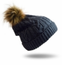 Pudus Hat Grey Cable Knit Adult