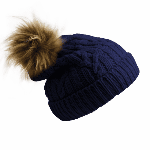 Pudus Hat Navy Cable Knit Kid