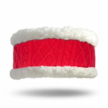 Pudus Headband Cable Knit Red Adult