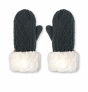 Pudus Mittens Cable Grey Kid