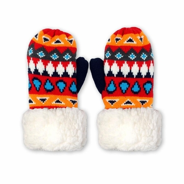 Pudus Mittens Southwest Red One Size