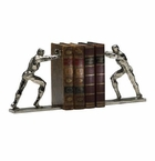 Pushing Men Iron Bookends by Cyan Design
