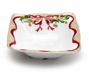"Q Squared Holiday Ruffle 12.5"" Large Square Bowl"
