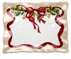 Q Squared Holiday Ruffle 17 x 13.5 Rectangle Serving Platter