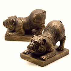 Resin Bulldog Bookends by SPI Home