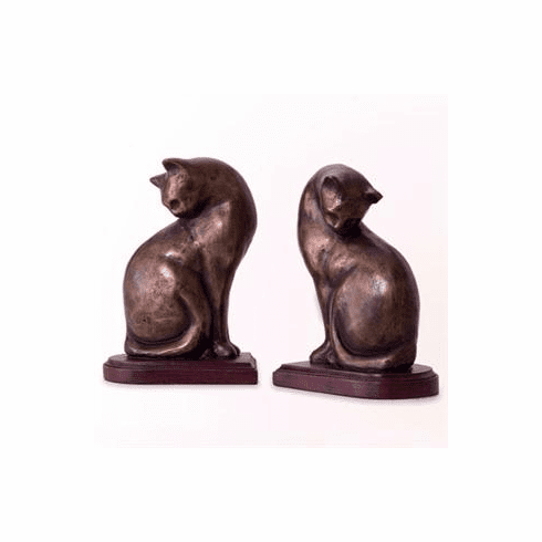 Resin Cat Bookends by SPI Home