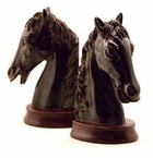 Resin Horsehead Bookends by SPI Home