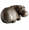 Resting Hippopotamus Iron Sculpture by Cyan Design