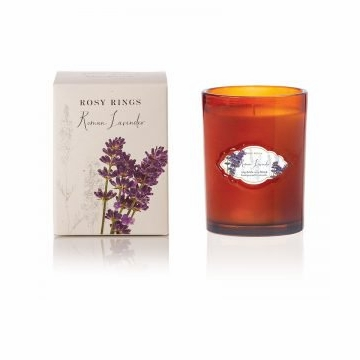 Rosy Rings Botanica Glass Candle Roman Lavender