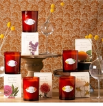 Rosy Rings Glass Candles