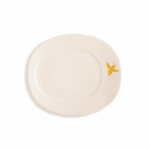 Rosy Rings Oval Ceramic Plate - Bee