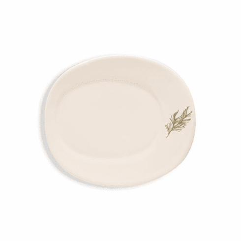 Rosy Rings Oval Ceramic Plate - Pine