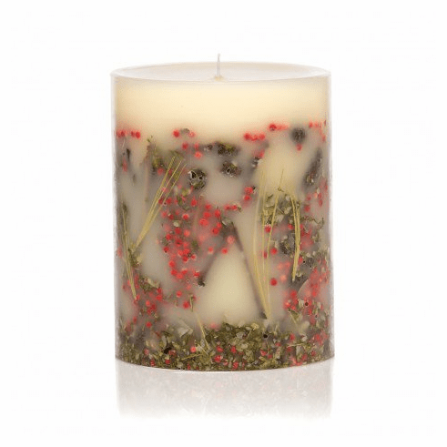 "Rosy Rings Red Currant & Cranberry 6.5"" Tall Round Botanical Candle"