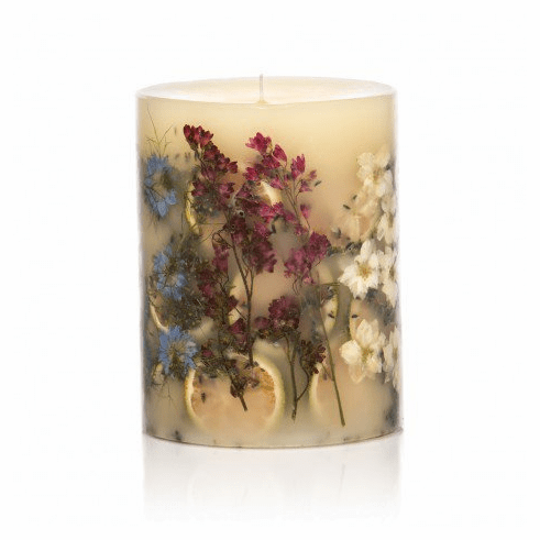 """Rosy Rings Roman Lavender 5"""" Tall Round Botanical Candle"""