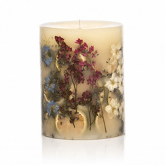 """Rosy Rings Roman Lavender 6.5"""" Tall Round Botanical Candle"""