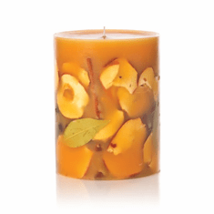 "Rosy Rings Spicy Apple 5"" Tall Round Botanical Candle"