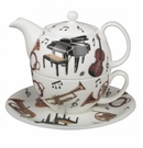 Roy Kirkham Concert Musical Instruments Tea for One Set