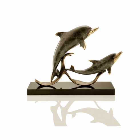 Sailor's Delight Double Dolphin Sculpture by SPI Home