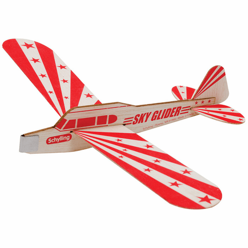 Schylling Balsa Wood Sky Glider Toy Airplane