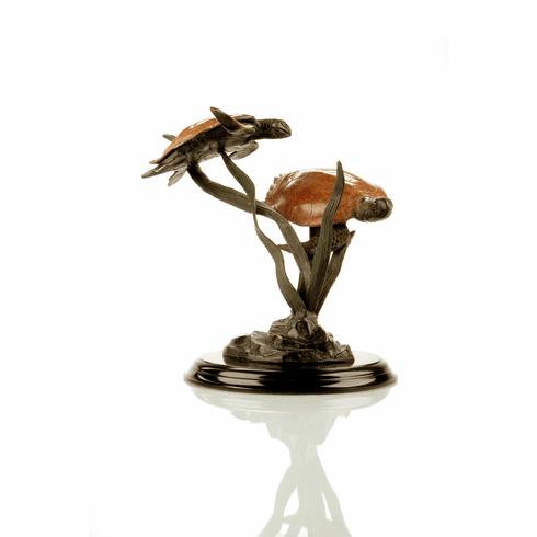 Sea Grass Tango Double Turtle Sculpture by SPI Home