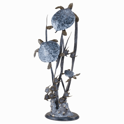 Sea Turtle Trio Seascape Sculpture by SPI Home
