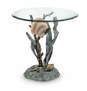 Shells And Seagrass End Table by SPI Home