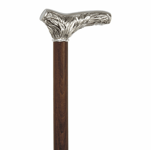 Silver Acanthus Walking Stick Cane by Concord