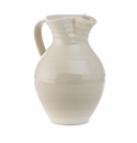 Simon Pearce Belmont Large Pottery Pitcher Crackle Ivory