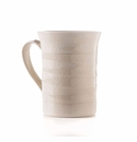 Simon Pearce Belmont Latte Mug Tall Crackle Ivory