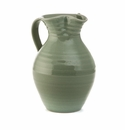 Simon Pearce Belmont Medium Pottery Pitcher Crackle Celadon