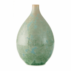 Simon Pearce Crystalline Teardrop Vase - Medium Jade