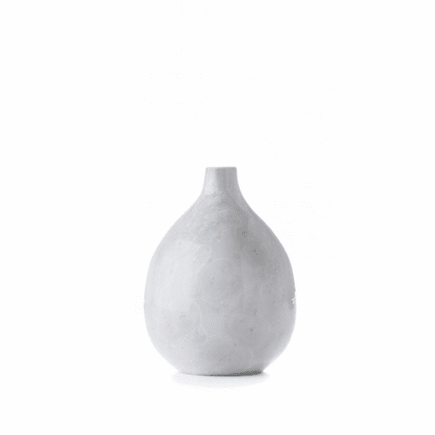 Simon Pearce Crystalline Teardrop Vase - Small Candent