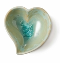 Simon Pearce Crystalline Twist Heart Bowl Jade