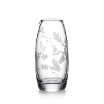 Simon Pearce Engraved Floral Addison Vase