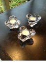 Simon Pearce Trefoil Tealights - Set Of Three
