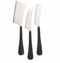 Simon Pearce Woodbury Black Cheese Knife Set