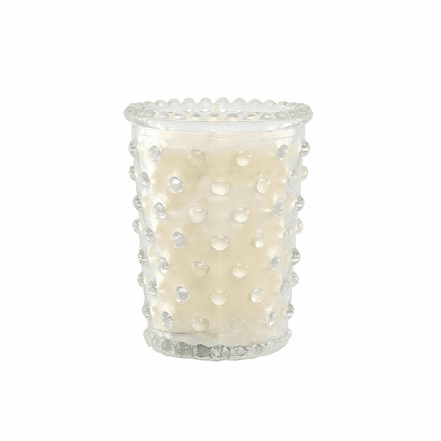 Simpatico 3.5oz Votive Hobnail Candle - White Flower