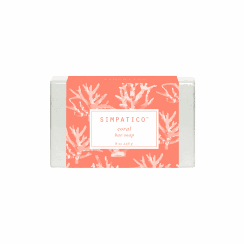 Simpatico 8oz Bar Soap - Coral