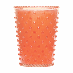 Simpatico Hobnail Glass Candle Guava (No. 71)