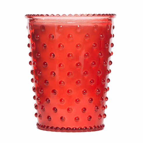 Simpatico Hobnail Glass Candle Watermelon Basil (No. 4)