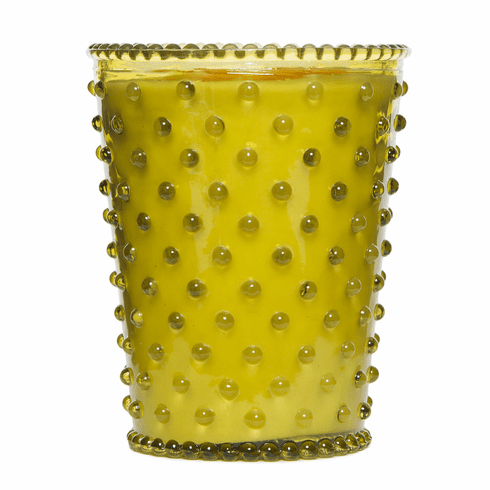 Simpatico Home 16 Ounce Hobnail Glass Candle - Fir & Grapefruit (No. 24)