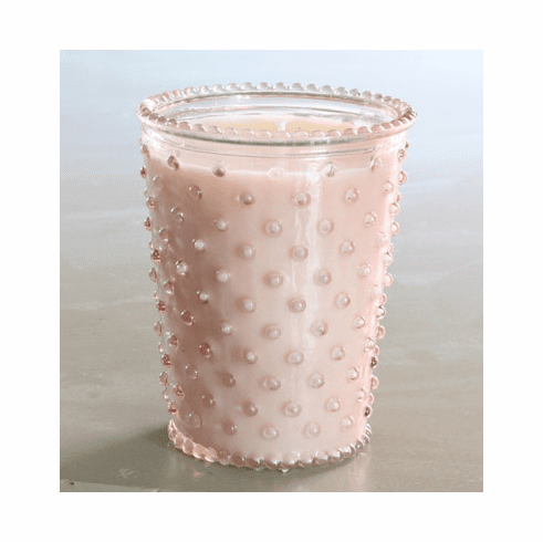Simpatico Home 16 Ounce Hobnail Glass Candle - Honeysuckle (No. 92)