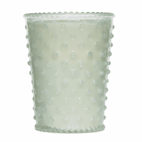 Simpatico Home 16 Ounce Hobnail Glass Candle - Snow (No. 85)
