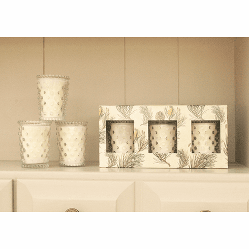 Simpatico Home 3 Piece Hobnail Votive Set - Scotch Pine (No. 26)