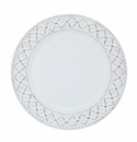 Skyros Designs Alegria Charger Simply White with Silver